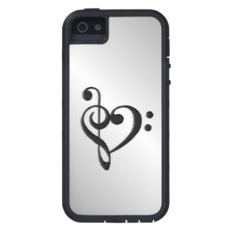 Music Clef Heart Distressed iPhone 5 Cases