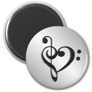 Music Clef Heart Magnet