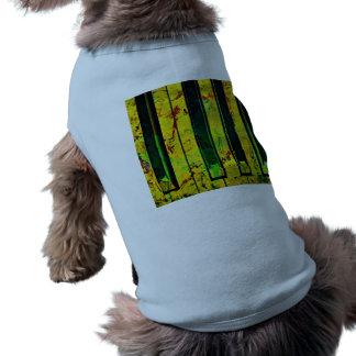 Music Clef Piano Pet Tee Shirt