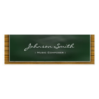 Music Composer - Cool Blackboard Personal Pack Of Skinny Business Cards