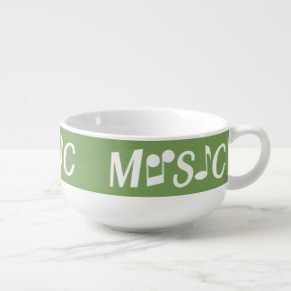 MUSIC custom color soup bowl Soup Bowl With Handle