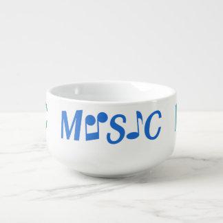 MUSIC custom soup bowl Soup Bowl With Handle