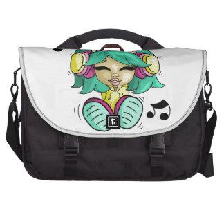 Music cutie laptop messenger bag
