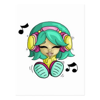 Music cutie post card