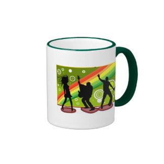 Music dances ringer coffee mug