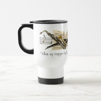 Music Design Travel Mug