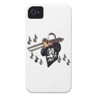 music design trombone player Case-Mate iPhone 4 cases