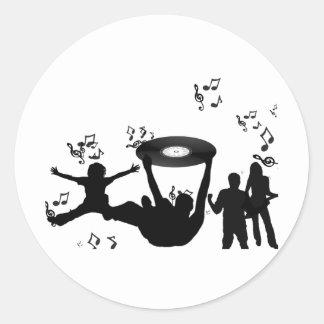 Music Disco People Dance Classic Round Sticker