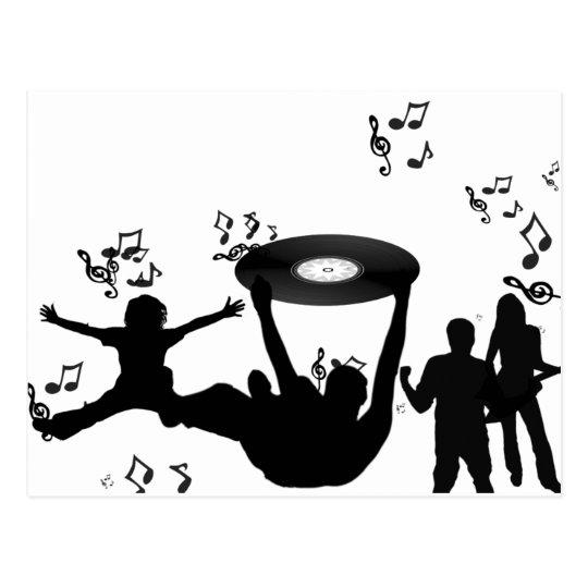 Music Disco People Dance Postcard