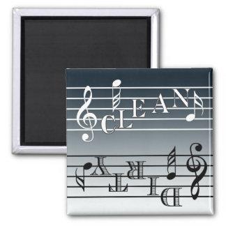 Music Dishwasher Indicator Square Magnet
