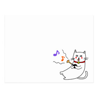 Music distantly the cat senior series of the white postcard