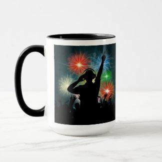 Music DJ custom monogram mugs