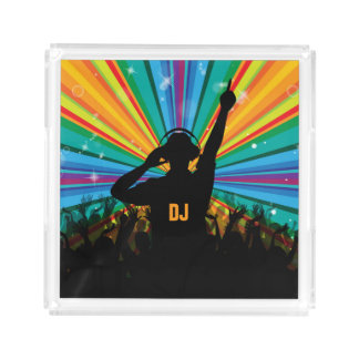 Music DJ custom monogram serving trays