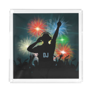 Music DJ custom monogram serving trays