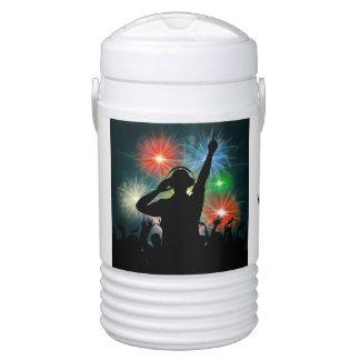 Music DJ custom name beverage coolers Cooler