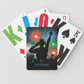 Music DJ custom text playing cards