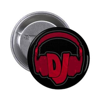 music DJ headphone 2 Inch Round Button