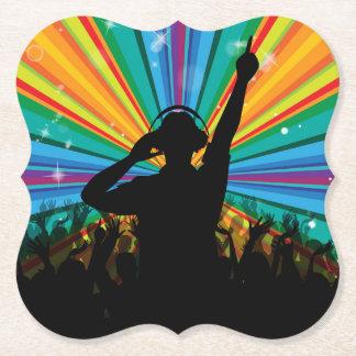 Music DJ paper coasters