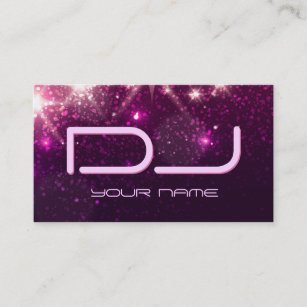 Shiny business cards profile cards zazzle ca music dj shiny pink glitter business card colourmoves