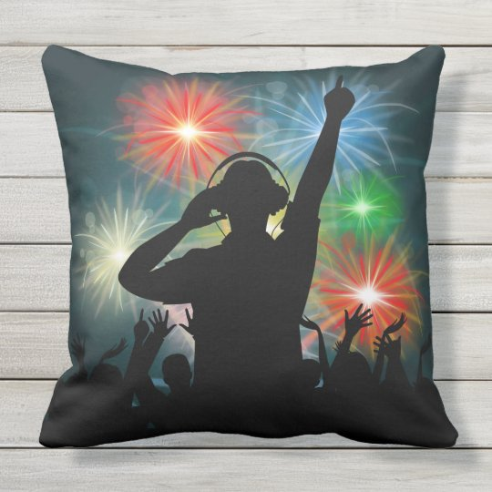Music DJ throw pillows