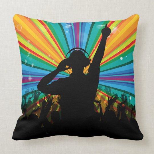 Music DJ throw pillows
