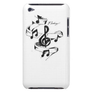 Music Drawn Barely There iPod Cases