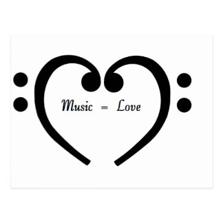 Music equals Love Postcard
