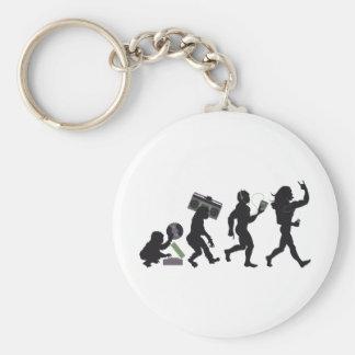 Music Evolution Basic Round Button Keychain