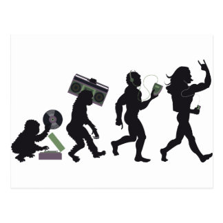 Music Evolution Postcard