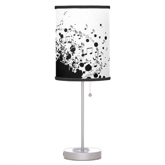 music explosion design black and white desk lamp