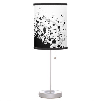 music explosion design black and white table lamp