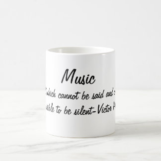 Music expresses... coffee mug