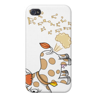 Music Farting Cow  Ipod case iPhone 4 Case