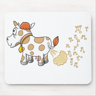 Music Farting Cow  Mouse Pad