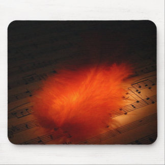 Music & Feather Mouse Pad