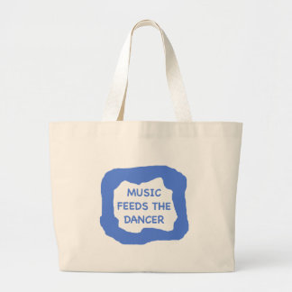 Music feeds the dancer .png canvas bags