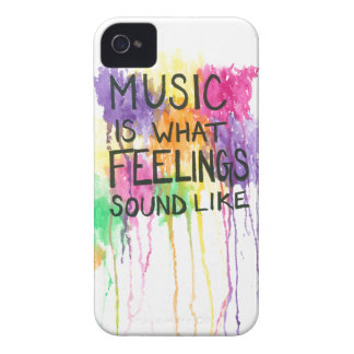 Music & Feelings iPhone 4 Cases
