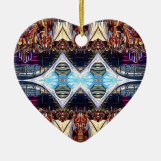 Music Festival Ceramic Heart Ornament