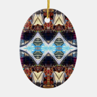 Music Festival Ceramic Oval Ornament