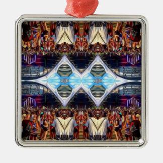 Music Festival Silver-Colored Square Ornament