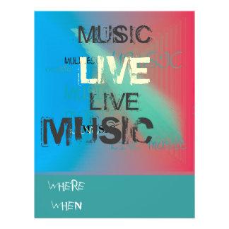 Music>Flyer vivant à la mode Prospectus 21,6 Cm X 24,94 Cm