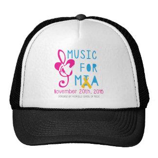 Music for Mia Mesh Hat - Black