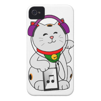 music Fortune Kitty Case-Mate iPhone 4 Cases