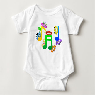 Music Fun Notes from Planet Peek-A-Boo Baby Bodysuit