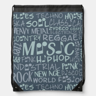 Music Genres Word Collage bag