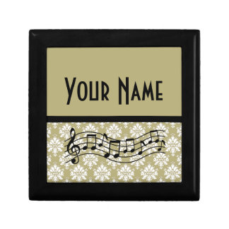 Music Gift Personalized Damask Design Gift Box