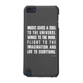 Music Gives A Soul To The Universe iPod Case iPod Touch (5th Generation) Cover