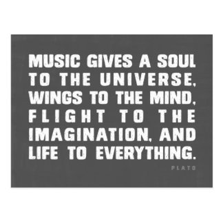 Music Gives A Soul To The Universe Postcard