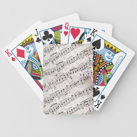 Music Golden Poker Playing Cards