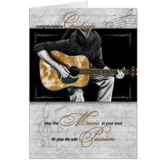 Music Graduate Congratulations - Guitarist Card